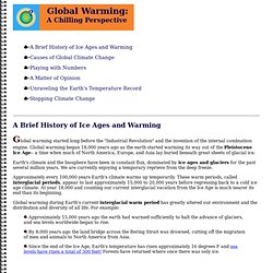 Global Warming:A Chilling Perspective