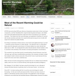 Most of the Recent Warming Could be Natural - Jennifer Marohasy