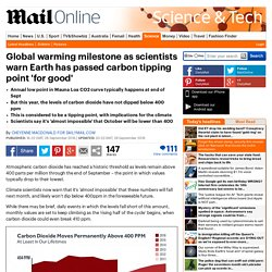 Global warming milestone as scientists warn Earth has passed carbon tipping point