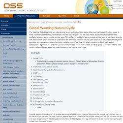 Global Warming Natural Cycle — OSS Foundation
