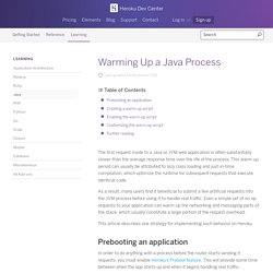 Warming Up a Java Process