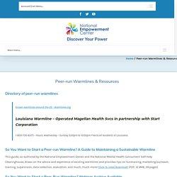 Peer-run Warmlines & Resources - National Empowerment Center