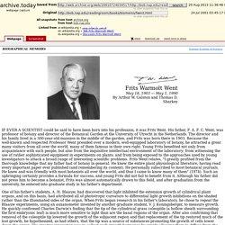 Frits Warmolt Went, May 18, 1903 — May 1, 1990