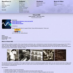 WarmPlace.Ru. Virtual ANS Spectral Synthesizer