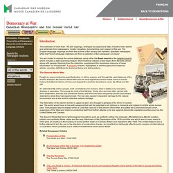 WarMuseum.ca - Canadian Newspapers and the Second World War: The History of World War 2