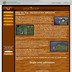 Over the Top - A First World War Free Online Adventure Game