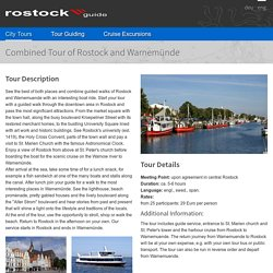 Rostock and Warnemünde - a combined tour of the Hanseatic city and seaside resort