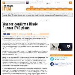 DVD Times - Warner confirms Blade Runner DVD plans
