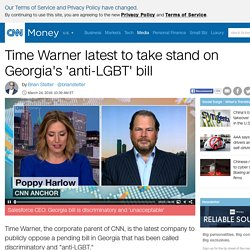 Time Warner latest to take stand on Georgia's 'anti-LGBT' bill - Mar. 24, 2016