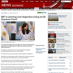 IMF in warning over Argentina ruling at US Supreme Court