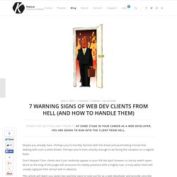 7 Warning Signs of Clients from Hell