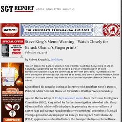Steve King's Memo Warning: 'Watch Closely for Barack Obama's Fingerprints'