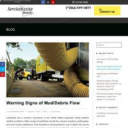 Warning Signs of Mud/Debris Flow