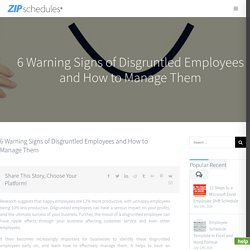 6 Warning Signs of Disgruntled Employees and How to Manage Them