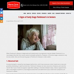5 Warning Signs of Parkinson's Disease in Older Adults