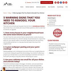 5 WARNING SIGNS THAT YOU NEED TO REMODEL YOUR KITCHEN