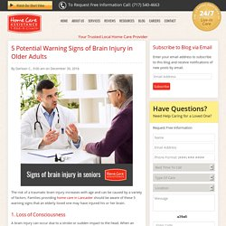 5 Warning Signs of Brain Injury in the Elderly