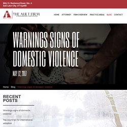 Warnings Signs of Domestic Violence