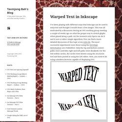 Warped Text in Inkscape