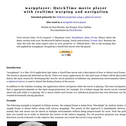 warpplayer: QuickTime movie player with realtime warping and navigation