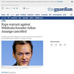 Wikileaks founder accused of rape | Media