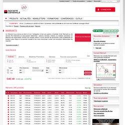 Warrants - Effet de levier - Produits de Bourse Société Générale
