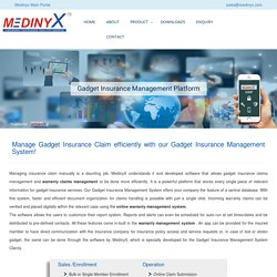 Online Warranty Claims Management System - MedinyX