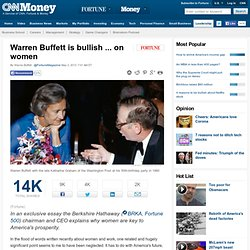 Warren Buffett is bullish ... on women - May. 2, 2013