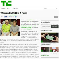 Warren Buffett Is A Punk