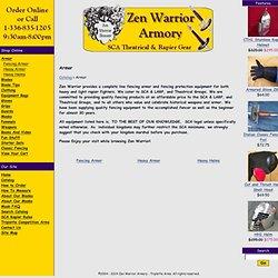 Zen Warrior Armory - SCA Fencing Armor, SCA Armor