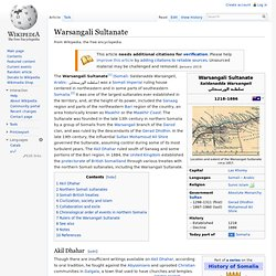 Warsangali Sultanate