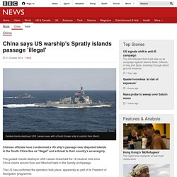 China says US warship's Spratly islands passage 'illegal' - BBC News