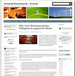 RSE : la loi Warsmann précise l'obligation de rapport des filiales