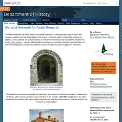 Warwick Network for Parish Research, Dept of History