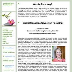Was ist Focusing? - www.Focusing.me - Focusing lernen