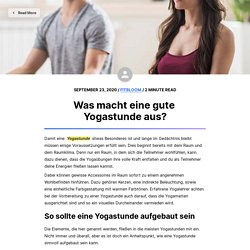 Was macht eine gute Yogastunde aus?