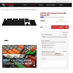 WASD Keyboards 105-Key ISO Cherry MX Keycap Set