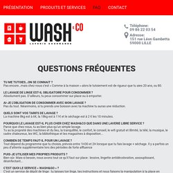 Wash And Co - FAQ