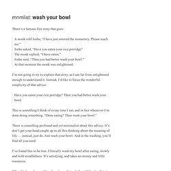» wash your bowl