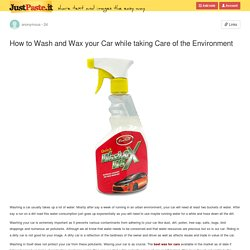 How to Wash and Wax your Car while taking Care of the Environment