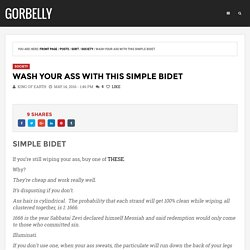 Wash Your Ass With This Simple Bidet