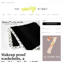 Makeup proof washcloths, a Machine Binding DIY