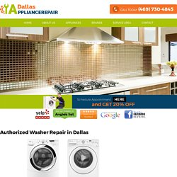 Washer Repair Dallas – Same Day Washer Repair Services
