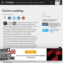 Green washing - Définition du glossaire