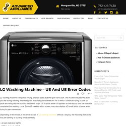 LG washing machine - UE and uE error codes