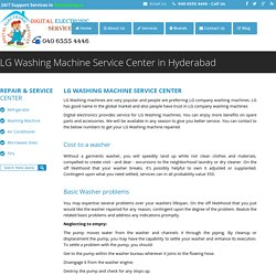 LG Washing Machine Service Center in Hyderabad