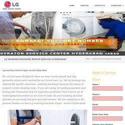 Lg washing machine repair service Hyderabad - LG Service