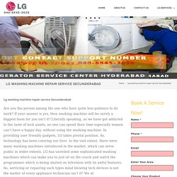 Lg washing machine repair service Secunderabad - LG Service