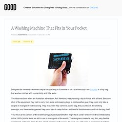 A Washing Machine That Fits in Your Pocket