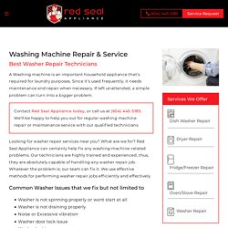 Washing Machine Repair in Port Moody and Vancouver - Redseal Appliance